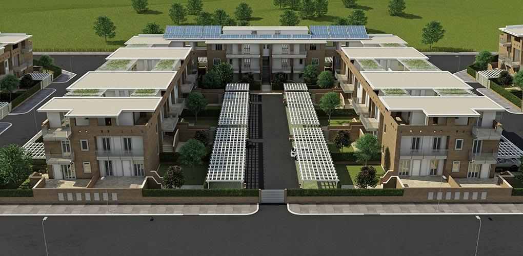 Edifici residenziali a stagni di ostia di cos s p a for Progettazione di edifici residenziali